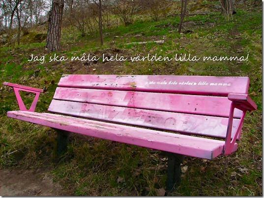 rosa bänk